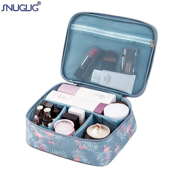 SNUGUG Fashion Cosmetic Bag For Cosmetics Large Storage Makeup Artist Suitcase Toiletry Kit Travel Organizer Women Cosmetic Bag