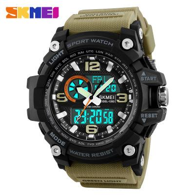 men STUDENT Mud Resist Sports Watches LED Digital Waterproof Watch with CLOCK and Temperature+Box