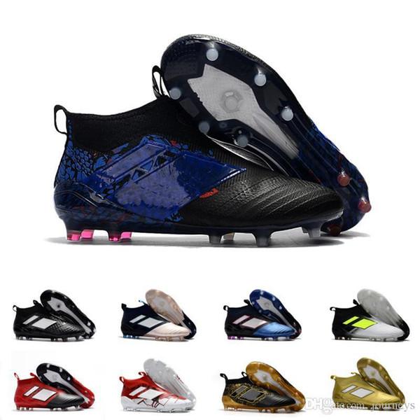 Desconto por atacado ACE 17 PureControl FG Deslizamento Em Homens s Sapatos de Futebol Botas de Homens Barato Desempenho Ace 17 Chuteiras Tênis De Futebol
