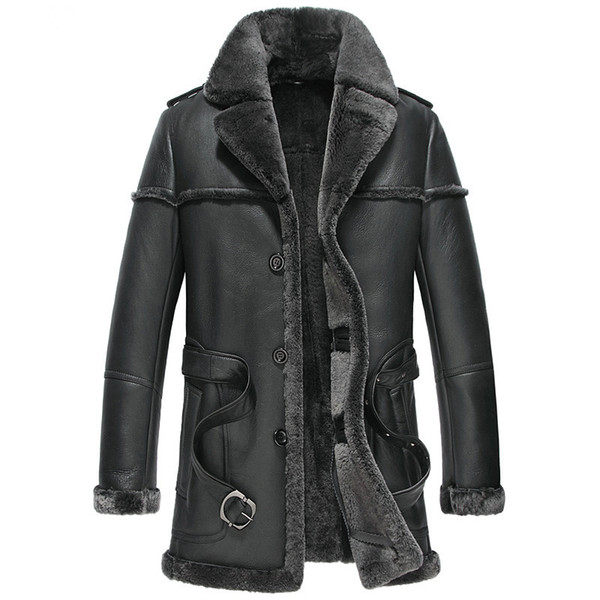 Men's Leather Jacket Natural Wool Fur Liner Coat Winter Jacket Men Genuine Sheepskin Luxury Warm Jackets 5xl Veste Homme MY1637