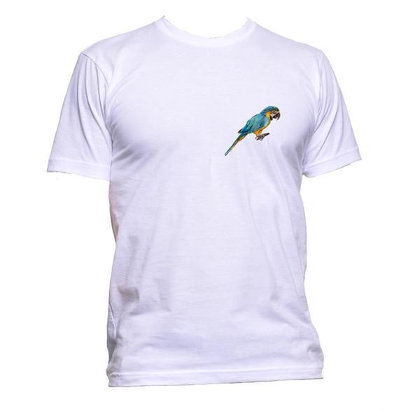 Realistische Papagei farbige Tier Tasche T-Shirt Herren Damen Unisex Mode Geschenk Größe discout heiße neue T-Shirt Tees benutzerdefinierte Jersey T-Shirt