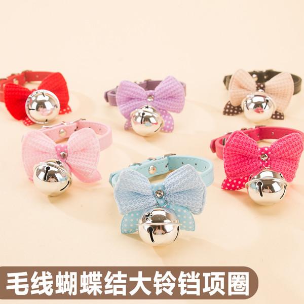 Bow bells pet collar dog than teddy bear small puppy cat collar accessories dog supplies Pet bow