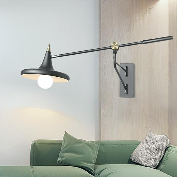 Acquista Luci Da Comodino Camera Da Letto Stile Nordico Lampade Da Parete A  Bilanciere Lunghe Telescopiche Studio Moderno Da Studio A LED Lampada Da ...