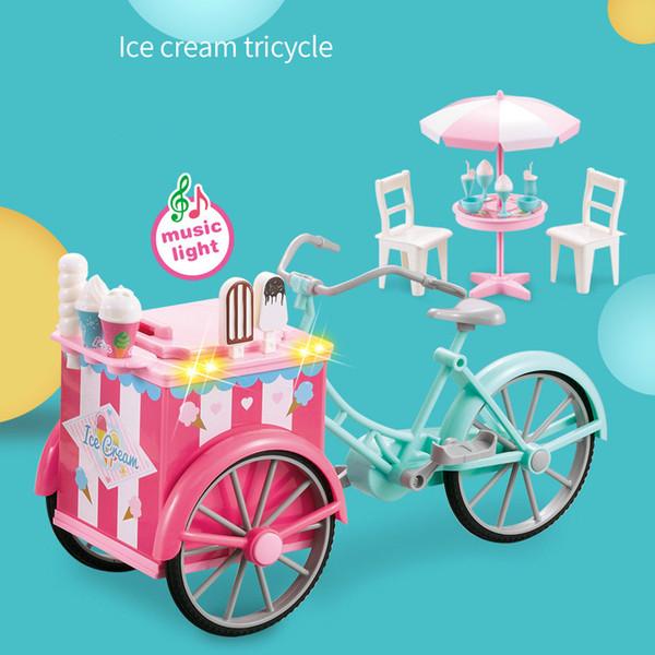 Mini Oyuncak Şeker dondurma Açık Üç tekerlekli Üç Tekerlekli Bisiklet Hafif Müzik Aksesuarları Birçok Eğlenceli ve Ilginç çocuk Alışveriş Oyuncak