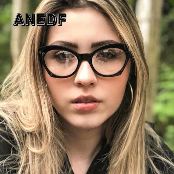 ANEDF Cat Eye Glasses Frames Hombres Mujeres Ópticas Moda Ordenador Gafas Marco Gafas Accesorios