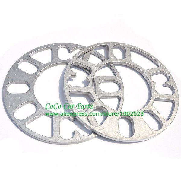 2 STÜCKE Universal Alloy Aluminium Spurverbreiterungen Platte 4 5 STUD 3mm 5mm 8mm 10mm PASSUNG 4x100 4x114.3 5x100 5x108 5x114.3 5x120