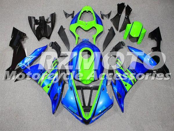 Nouveau ABS moulage par injection moto en plastique carénages kits adaptés pour YAMAHA YZF-R1-1000 2004-2006 04 05 06 ensemble de carrosserie personnalisé bleu vert