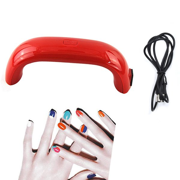 3Leds UV Lamp 9W Mini USB LED UV Lamp Nail Dryer Gel Polish Drying For Nail Art Manicure Tools Dryers Smarter Machine