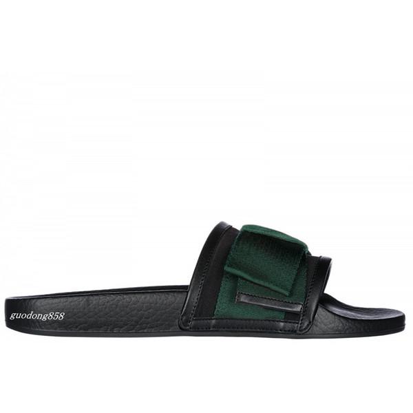 Zapatillas de moda para hombre y para mujer Correa ancha satinada adornada con lazo de gran tamaño Plantilla de goma moldeada