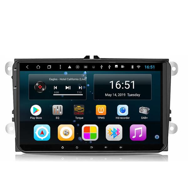 Android Autoradio mit Frontkamera kostenlose Karte ausgezeichnete Bluetooth-Mikrofon Multi-Touchscreen-Musik schnelle Lieferung für Volkswagen 9inch