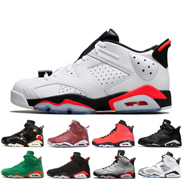 In Stock 2019 Infrared Bred 6 6s Mens Basketball Shoes 3M Reflective Bugs Bunny Tinker Hatfield Black Cat Flint Men Sports Sneakers Designer
