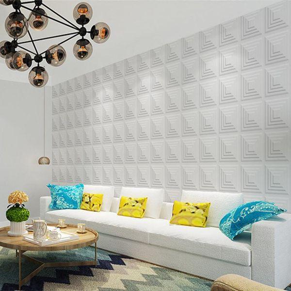 30x30cm XPE Foam 3D Wall Sticker Brick Self Adhesive Waterproof DIY Art Wallpaper Decals TV Background 3 Colors Home Decoration