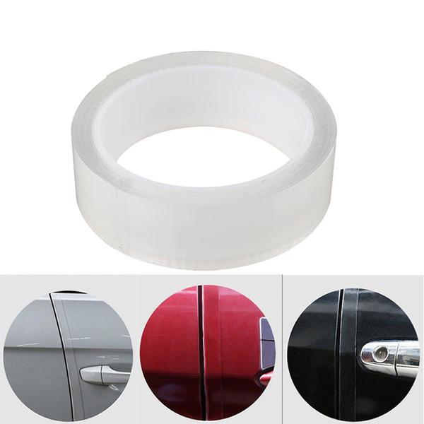 Clear Car Door Edge Guard Strip Paint Protection Sticker Anti-scratch Wrap Film Styling Mouldings 2/3/5cm*3m