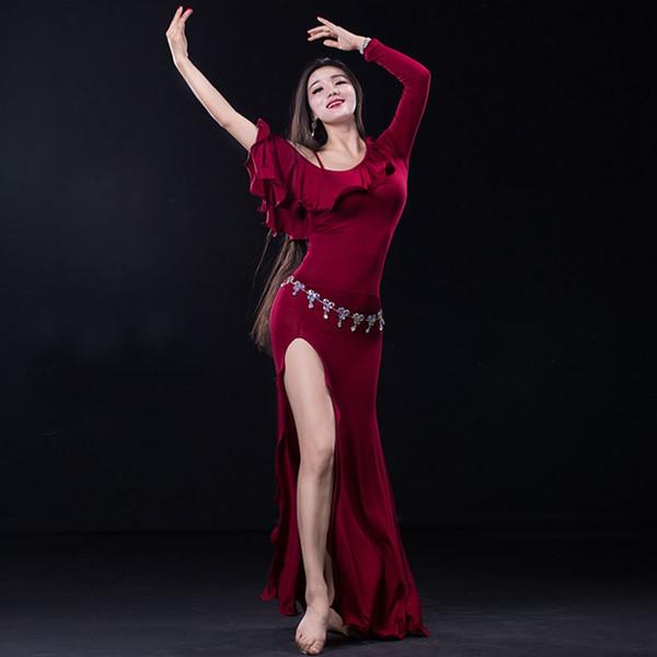 2016 Satış Oryantal Dans Kostümleri Için Pamuk Bellydance Wuchieal Marka 2017 Yeni Kadın Oryantal Dans Kostümleri Elbise Oryantal 2638