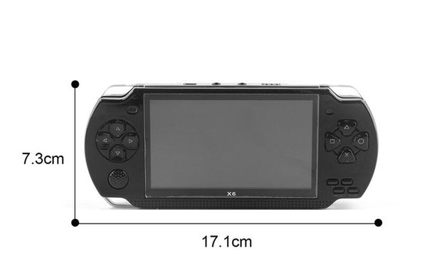Game Console 4.3 inch screen mp4 player MP5 game player real 8GB support for psp game,camera video,e-book