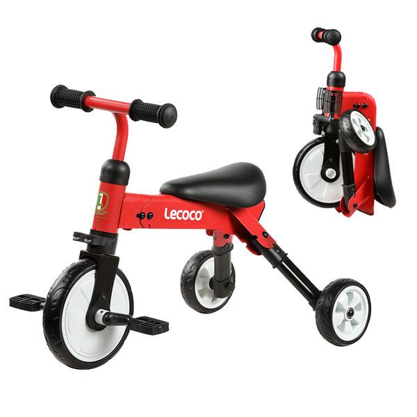 Faltbare Kinder Fahrrad Dreirad Kind Roller 2 IN 1 Junge Mädchen Baby Radfahren Fahrrad Tritt Fuß Roller 3,5 KG Leichte Tragbare
