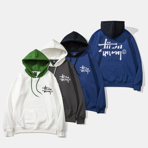 Stussys gelgit marka moda hoodie yeni erkek tasarımcı hoodies ABD sokak klasik bayan kazak pamuk mektubu baskı kazak lüks kazak