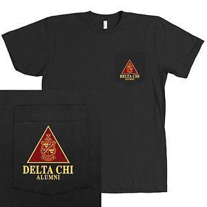 Delta Chi Alumni Fraternity Bella + Canvas POCKET Shirt - MORE COLORS