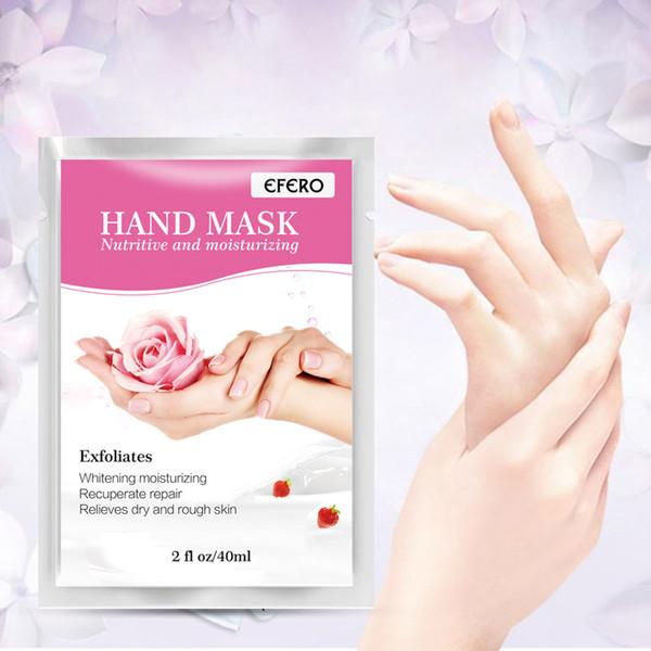EFERO Hidratante Spa Guantes de mascarilla de manos Exfoliante Guantes de parche de mano Belleza Nutrir Cuidado de la piel Antiarrugas DHL Envío gratis
