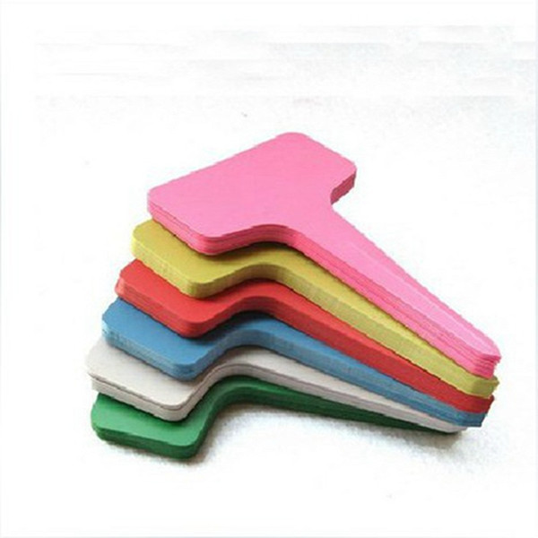 plastic plant labels T Type plant tags Eco Friendly Nursery garden labels for plants waterproof outdoor indoor