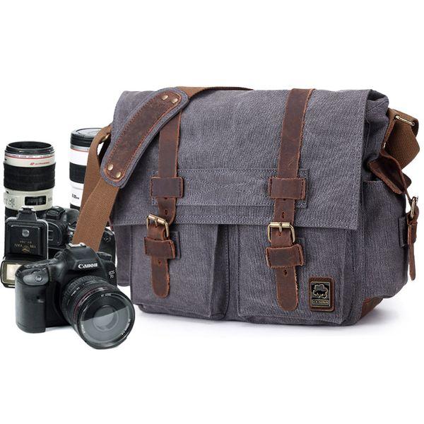 etro Canvas Crossbody Shoulder Bags Sling DSLR SLR Photo Video Soft Casual Bag Pack Case Travel Camera Protective Cases Retro Canvas Cros...