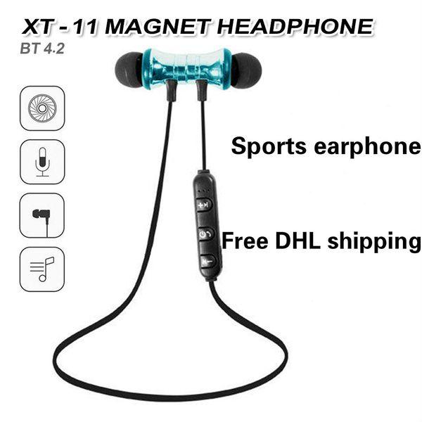 Bluetooth Kopfhörer XT11 Magnetic Wireless Running Sport Kopfhörer Headset BT 4.2 mit Mikrofon MP3 Ohrhörer Für iPhone LG Smartphones