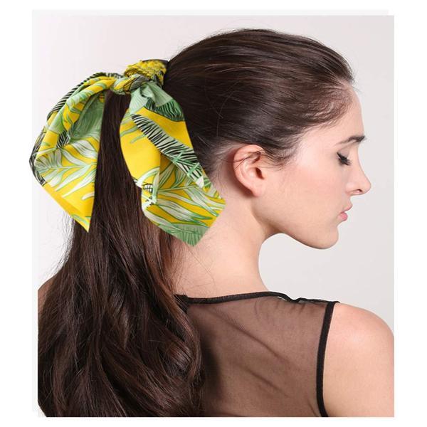 Yeni Zarif Kadın Hairband Kare Şerit Kafa Bandı Saten Eşarp Saç Kravat Band Küçük Moda Kare Eşarp Kadınlar Yaz Aksesuarları