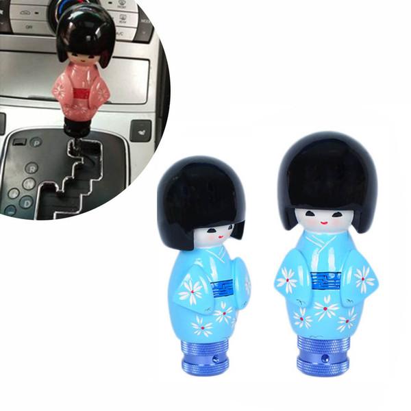Синяя Кукла Ручка Переключения Передач для AT MT Shifter Lever 3 Адаптеры Переключение Адаптеры Cool Funny Автомобильные Аксессуары Авто Украшения Популярные