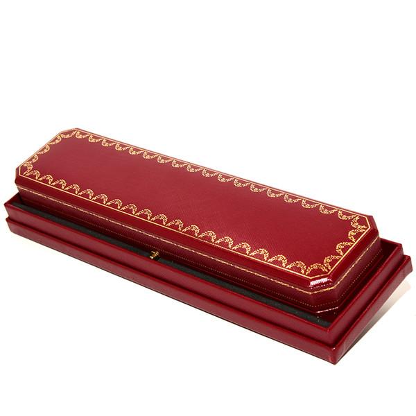 Süper Kalite Kırmızı Lüks moda Güzel Takı Ambalaj Kolye Kutusu Kadınlar Ünlü marka Kolye Kolye Orijinal hediye Kutusu