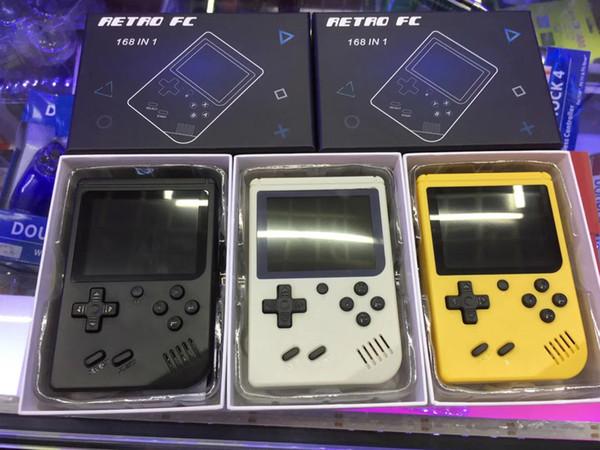 Actualice RS-6A Puede almacenar 168 juegos Retro Portátil Mini Consola de juegos portátil Reproductor de juegos LCD de 8 bits y 3,0 pulgadas para el juego FC