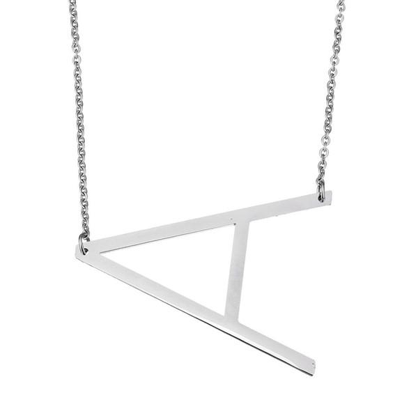 Venta al por mayor- 2017 moda de acero inoxidable carta collar colgantes declaración collar cuerpo cadena larga joyería para mujeres hombres regalo romántico