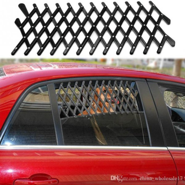 Free Shipping 24*11*1cm Pet Dog Travel Car Window Grill Vent Ventilator Guard Mesh Security Lattice Telescopic fence