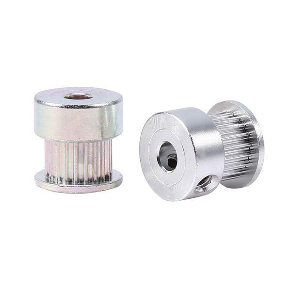 20pcs/Lot Belt Pulleys Aluminum Alloy Gear Printer Tooth Pulley Timing Pulley Wheel 5mm Inner Diameter 20 Teeth Mounted Bearings