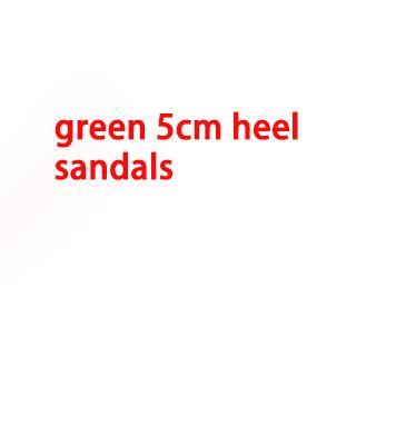 talón verde de 5 cm