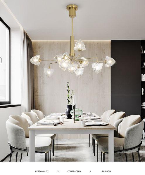 Postmodern crystal chandelier living room pendant lamp bedroom fixtures restaurant hanging lights Iron LED suspension luminaire