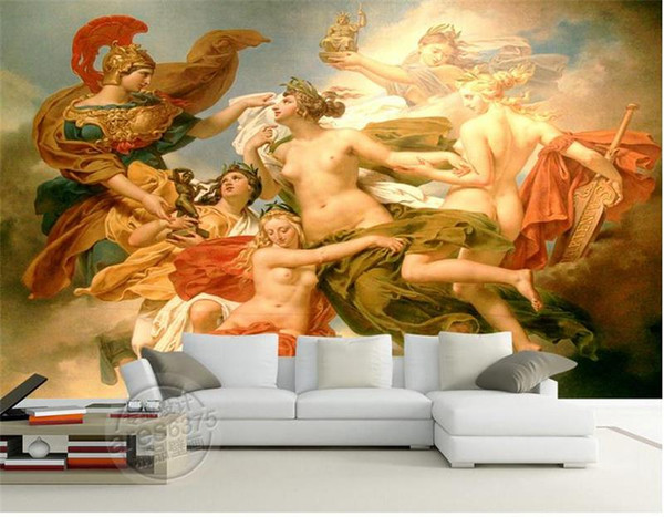 3d wallpaper custom photo wallpaper living room mural God of War angel picture 3d wall mural for living room