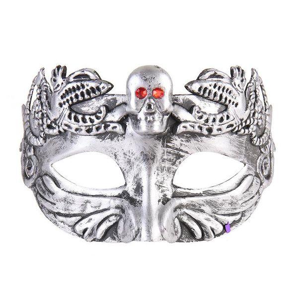 New arrival Retro Greco Roman Mens Mask for Mardi Gras Gladiator masquerade Halloween Vintage half face Mask Carnival 3D carved jazz Masks