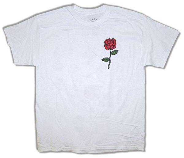 Asamar Yams Red Rose Yamborghini T-Shirt Branca Alta Nova Oficial A $ AP Mob