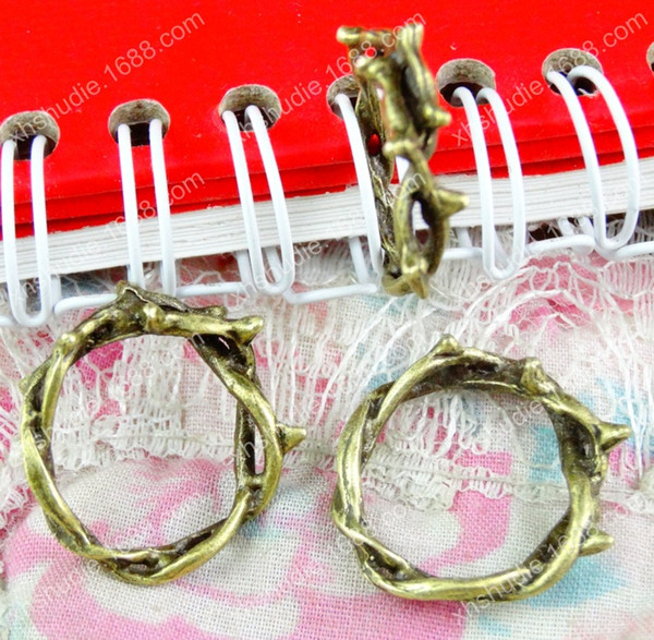 60pcs 22*20.8MM tibetan antique bronze tree connector ring charm for bracelet vintage metal pendants earring handmade DIY jewelry making
