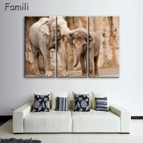 Strange 2019 Giant Elephant Printing Canvas Wall Art For Home Decoration Living Room Canvas Prints Modern Painting Large Canvas No Frame From Xiaofang8810 Home Interior And Landscaping Palasignezvosmurscom