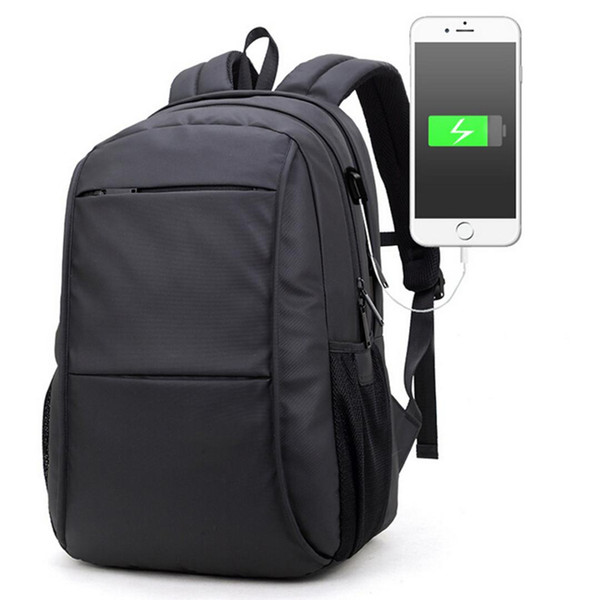 2018 USB Charge Computer Bag IPX6 Waterproof Anti-theft 15.6 inch Notebook Laptop Backpack For Men Woman New School Bag