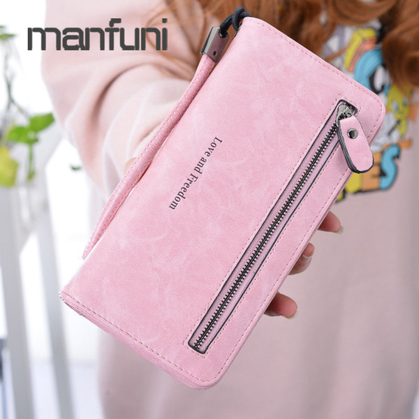 Luxury Women Wallet Leather Fashion Long Wallets Ladies Wristlet Wallet Women Card Holder Cell Phone Pocket Coin Purse Girls