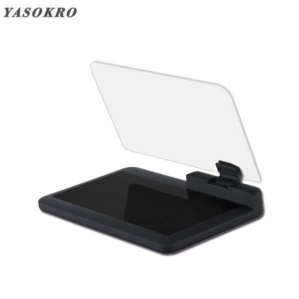 YASOKRO H6 Car HUD Head Up Display Stand Titular Car GPS Navigator Telefone Smartphone Projector Reflexão Panel Board antiderrapante Mat