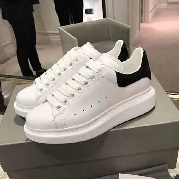 A2019 Designer Shoes trainers Reflective 3M white Leather Platform Sneakers Womens Mens Flat Casual Party Wedding Shoes Suede Sports Sneaker