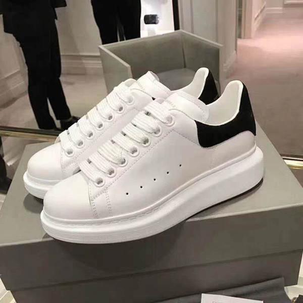 A2019 Tasarımcı Ayakkabı eğitmenler Yansıtıcı 3 M beyaz Deri Platformu Sneakers Bayan Erkek Düz Rahat Parti Düğün Ayakkabı Süet Spor Sneaker