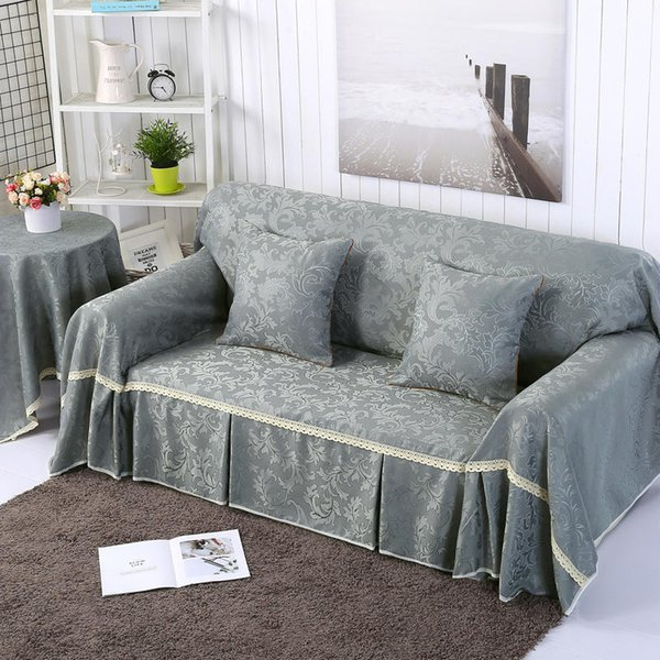 High Quality Couch Cover Solid Color 100 Polyester Leather Sofa
