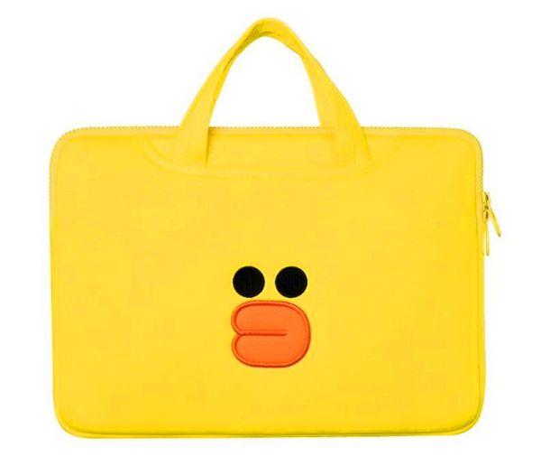 Fashion design cartoon porta grande borsa da viaggio con design di papero giallo, inclusa borsa Ipd, consegna gratuita, 1 big 2 small