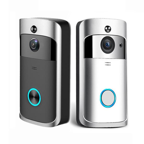 Interphone Vidéo Intelligent IP WI-FI Vidéo Porte Téléphone Porte Cloche WIFI Caméra De Sonnette Pour Appartements IR Alarme Sans Fil Caméra De Sécurité