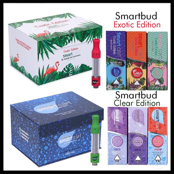 SMARTCART Exotic Ausgabe Smartbud Klar Ausgabe Leer Vape Cartridge 0,8 ml 1,0 ml Keramik Coil 22 Flavors Smart Cart in 30ct Display Box