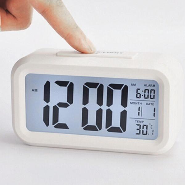 Digital Alarm Clock Student Clock Big LED Screen Snooze Electronic Children Data Time Calendar Desk Watch Table Clocks